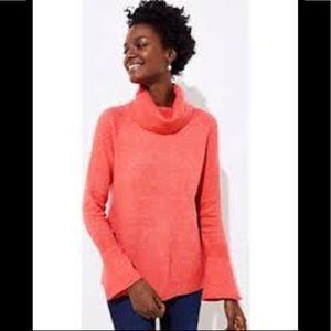 LOFT petites MP orange flare sleeve sweater